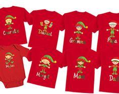 Matching Christmas Shirts for the Family Family por TheCuteTee