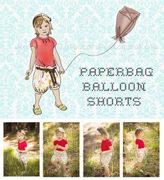 A Pocket full of goldfish: Paperbag Balloon Shorts Tutorial