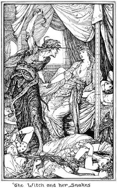 The Story of Zoulvisia - The Olive Fairy Book by Andrew Lang, illustrated by H.J. Ford, 1907