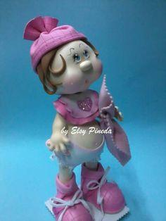 Bebé Foam Crafts, Diy Crafts, Baby Shower, Cold Porcelain, Disney Characters, Fictional Characters, Dolls, Disney Princess, Crochet