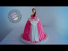 Princess Cake | Barbie Torte | Barbie Kuchen | Tutorial IBarbie Doll Cake |Fondant Cake |Motivtorte - YouTube