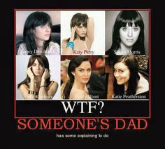Aaron just said last night that he gets Zooey Deschanel and Katy Perry confused. haha