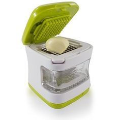A chopping cube that peels and dices garlic and keeps your fingers from smelling for the rest of the day.