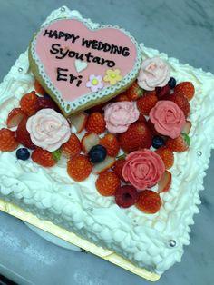 バラ Cake, Desserts, Wedding, Food, Tailgate Desserts, Valentines Day Weddings, Deserts, Kuchen, Essen