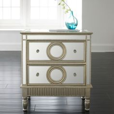 Cayleigh Mirrored Storage Chest (silver)