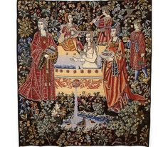 The Bath  Representing a noble-lady taking a bath surrounded by her ladies in waiting and servants, the original of this exceptionally fine tapestry from the time of Louis XII, hangs in Paris' Cluny museum.