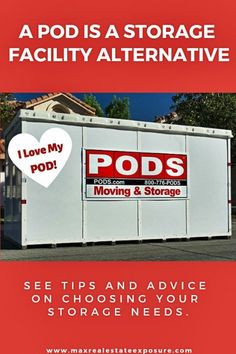 What Are Some Storage Facility Alternatives? You Could Go With a POD. Learn More at Maximum Real Estate Exposure. Real Estate Articles, Real Estate Information, Pods Moving And Storage, Who Will Buy, Getting Into Real Estate, Online Real Estate, Storage Facility, Self Storage, Moving Tips