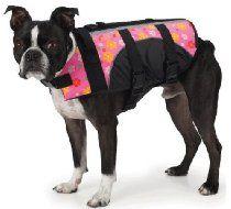 East Side Collection Pink Floral Fashion Life Jacket Preserver Pet Water Safety Dog Vest X-Large