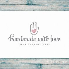 Handmade Logo Art Craft Crochet Knitting By TLCPaperie