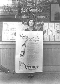 Chamber of Commerce Office, 1928. Venice Historical Society - Venice, California