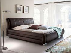 BALDO Polsterbett Kunstlederbett 160 x 200 cm | braun