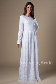 Payson | LDS Temple Dress | Modest | LatterDayBride | SLC | UT | Salt Lake City | Utah | Worldwide Shipping |