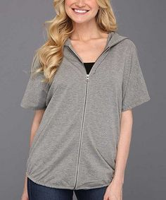 Take a look at this Heather Gray Fly Fleece Zip-Up Hoodie - Women by Oakley on #zulily today!