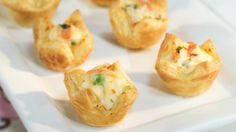 These Vegetable & Cheese Pastry Puffs are the perfect finger-food for grabbing during the big game! Try them this Sunday!