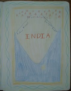 .. Here are some lesson book photos from our first Ancient Civilizations block. We spent about three weeks on India. I planned this block m...