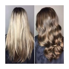Transformation blonde to brunette by @kaylen.o