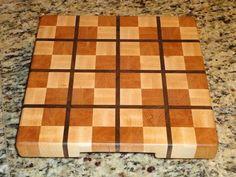 A Plaid Cutting Board