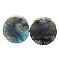 High Flash Labradorite Concave Thick Stone Plugs (27mm) #7648 | BMA MODIFIED