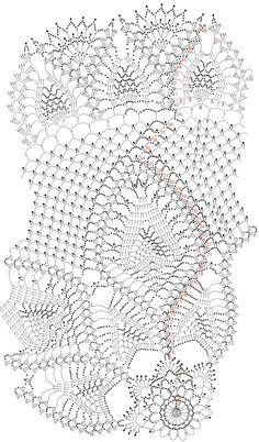 "Photo from album ""Tricot Selection Crochet d'Art on Yandex. Crochet Tablecloth Pattern, Crochet Doily Diagram, Crochet Doily Patterns, Crochet Chart, Thread Crochet, Filet Crochet, Irish Crochet, Crochet Motif, Crochet Doilies"