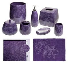 Ordinaire Botanica Purple Bathroom Accessories, Deluxe Set From The Purple Store!