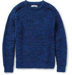 Richard JamesWool and Cotton-Blend Sweater|MR PORTER