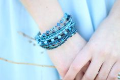 Rainy Day Blues by Tammy and Rachel on Etsy