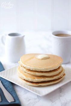 Homemade pancakes are the perfect breakfast. this homemade pancake mix recipe makes the most amazing pancakes ever! Breakfast Dishes, Breakfast Recipes, Dessert Recipes, Desserts, Yummy Pancake Recipe, Yummy Food, Best Homemade Pancakes, Best Cookies Ever, Love Food