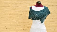 "Thunder Moon is a crescent shawl that is worked from the bottom up. The lace border features a zig zag ""lightning"" motif. The body of the shawl is worked in garter stitch and uses short rows to create the crescent shape. Knitted Shawls, Crochet Shawl, Knit Crochet, Knitted Scarves, Lace Knitting, Knitting Patterns, Crochet Patterns, Thunder Moon, Crescent Shawl"