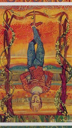 XII. The Hanged Man: The Crystal Tarot