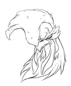 Rooster Warrior by jerkmonger . Tattoo Design Drawings, Art Drawings Sketches, Cartoon Drawings, Cartoon Art, Pencil Drawings, Rooster Tattoo, Rooster Art, Black Rooster, Graffiti Cartoons