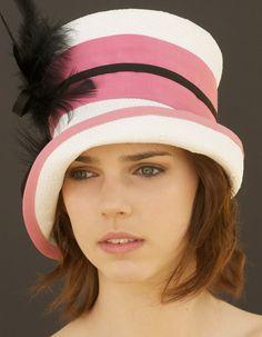 Kentucky Derby Hat Pink Black & White Cloche by AwardDesign, $86.00