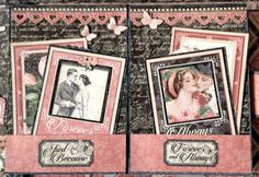Pocket Page Tutorial for the Mon Amour Photo Album. double page. By Anne Rostad