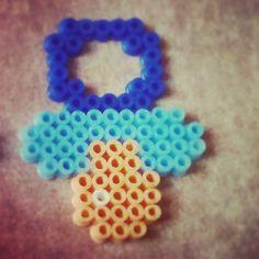 Blue pacifier hama beads by nuskyartesania