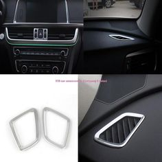 [Visit to Buy] 3pcs car-styling Chrome Interior center+upper AC Air Vent Outlet Cover Trim Cover for Kia Optima K5 2016 Car Interior styling #Advertisement