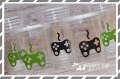 Gamer Birthday Party-Video Game Party Cups-Party by PartyCupMedley