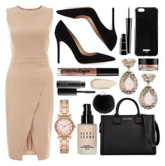 """""""Untitled #7"""" by ravinderj98 ❤ liked on Polyvore featuring New Look, Karl Lagerfeld, Gianvito Rossi, Givenchy, Yves Salomon, Michael Kors, ABS by Allen Schwartz, NYX, MAC Cosmetics and Bobbi Brown Cosmetics"""