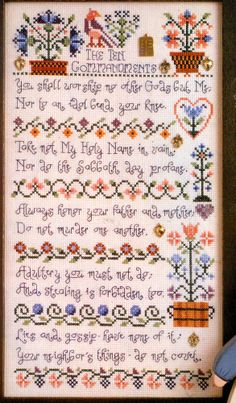 Pretty Jeremiah Junction TEN COMMANDMENTS Cross Stitch Pattern . would like to do this, maybe an updated version