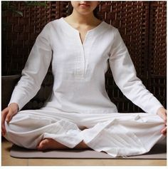 Tai Chi Clothing, Eat Pray Love, Comfortable Outfits, Yoga, Scrubs, Meditation Clothing, India, Clothes For Women, Cotton