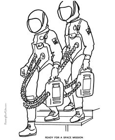 Space coloring pages Robots help astronauts learn Anatomy