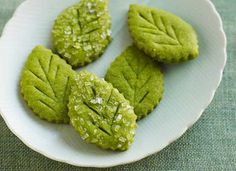 Matcha Tea Leaf Shortbreads by Dede Wilson