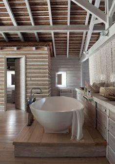 Rustic Contemporary Bath