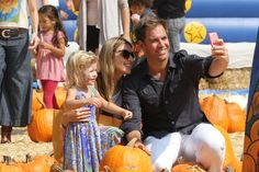 Michael Weatherly with his wife, Bojana, and their daughter, Olivia, in October 2014.