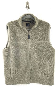 Gap Womens SMALL Sleeveless Sweater Vest Jacket Coat Lined Light Brown Beige    eBay
