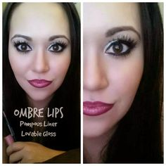 """DIY Ombre Lips. For Ombre Lips you will need: Smear proof """"Pompous"""" LipLiner &""""Lovable"""" Lucrative Lipgloss"""