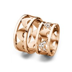 Crown ring - Furrer Jacot Magiques in  red gold 9.50mm
