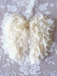 Shabby Fabric Angel Wings French Country Cottage Style Angel Wings Wall Decor on Etsy, $373.33