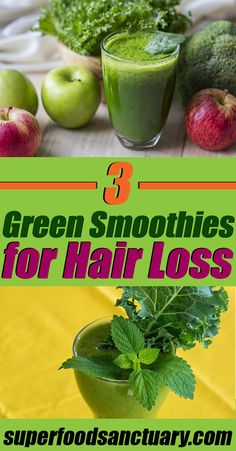3 Green Smoothies for Hair Loss - Superfood Sanctuary
