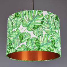 Tropical Green Leaf Lamp Pendant Shade | Quirk