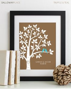 Personalized Wedding Gift for Couples Gift for door DallowayPlace
