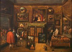 Frans Francken the Younger (1581-1642) and David Teniers the Younger (1610-1690) — The Interior of a Picture Gallery, c.1640 : The Courtauld Gallery, London. UK